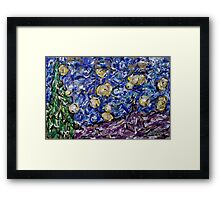 A Starry Evening in 2016 (figurative departure) Framed Print