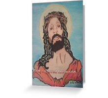 Jesus inscribed with John 3:16 Greeting Card