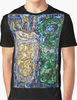 Beer: Glass & Bottle Graphic T-Shirt