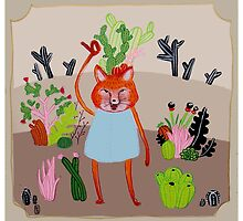 the Fox and Cactus by emmalapine