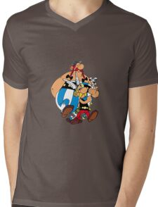 Asterix & Obelix Mens V-Neck T-Shirt