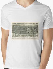 Aero view of Fitchburg, Massachusetts (1915) Mens V-Neck T-Shirt