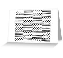 Patchwork hearts and stripes painted Greeting Card