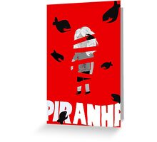 Piranha Greeting Card
