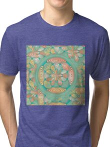 Tropical color abstract Tri-blend T-Shirt