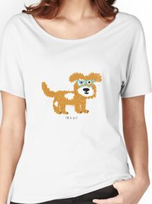fun dog hipster style Women's Relaxed Fit T-Shirt