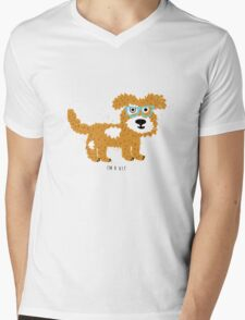 fun dog hipster style Mens V-Neck T-Shirt