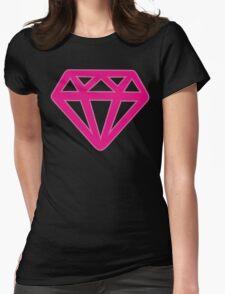 Pink Kitsch Diamond Womens Fitted T-Shirt