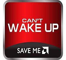 cant wake up amd shirt Photographic Print