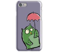 owl in the rain iPhone Case/Skin