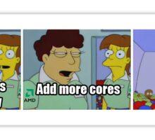 amd add more cores Sticker