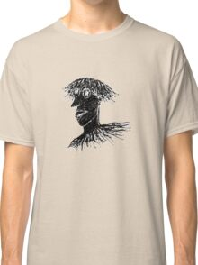 Cool Young Long Hair Man with Glasses Drawing Classic T-Shirt