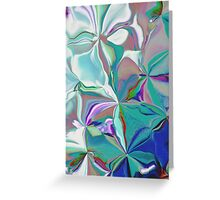 Colorful Abstracted Melting Flowers  Greeting Card