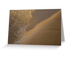 Lines on the sand Greeting Card