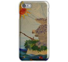 Armadillo, fishing, fish, whimsical art, cartoon armadillo fishing iPhone Case/Skin