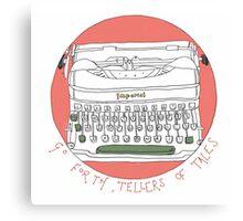 Tale telling typewriter  Canvas Print