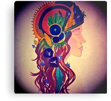 Queen of Pentacles Metal Print