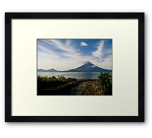 A Beautiful Morning View Framed Print