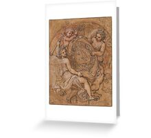Michel Corneille, the Younger  The Coat of Arms of France and  Greeting Card