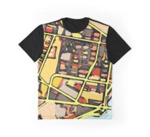 Abstract Map of East Cambridge Graphic T-Shirt