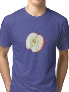 Half of red apple Tri-blend T-Shirt