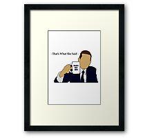 The Office Michael Scott Framed Print
