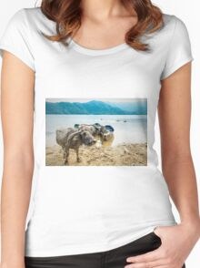 Water Buddies Women's Fitted Scoop T-Shirt