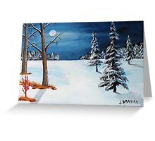 New Moon New Snow Greeting Card