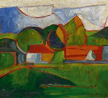 Morton Livingston Schamberg  ABSTRACT LANDSCAPE by Adam Asar