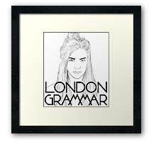 London Grammar Framed Print