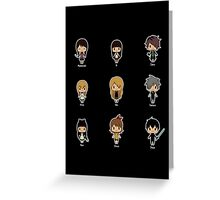 Horror RPG Chibis [Ib, Mad Father, The Witch's House, etc.] Greeting Card