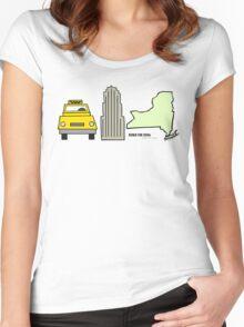 New York, New York Women's Fitted Scoop T-Shirt