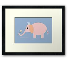 ELEPHANT WITH BLOOMS & BLING Framed Print