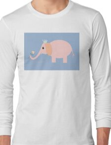 ELEPHANT WITH BLOOMS & BLING Long Sleeve T-Shirt