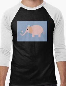 ELEPHANT WITH BLOOMS & BLING Men's Baseball ¾ T-Shirt