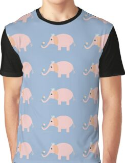 ELEPHANT WITH BLOOMS & BLING Graphic T-Shirt