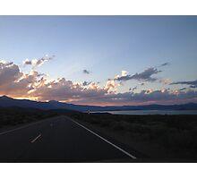 California Sunset - Road Trip Photographic Print