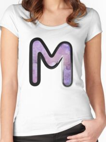 Watercolor - M - purple Women's Fitted Scoop T-Shirt