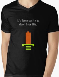 It's Dangerous to go alone. Take this Mens V-Neck T-Shirt