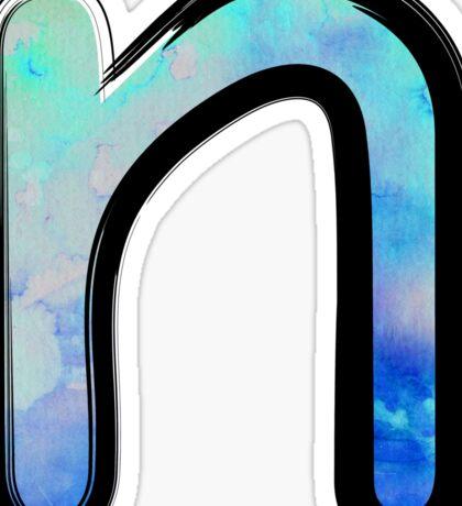 Watercolor - N - blue Sticker