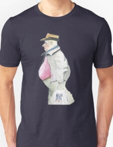 man with sideburns and tesco bag Unisex T-Shirt