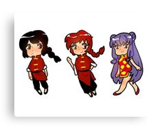 Ranma 1/2 Sticker Set Canvas Print