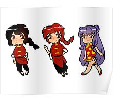 Ranma 1/2 Sticker Set Poster
