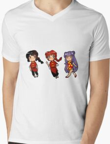 Ranma 1/2 Sticker Set Mens V-Neck T-Shirt