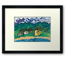land, ho; jamaica foreseen in mexico  Framed Print