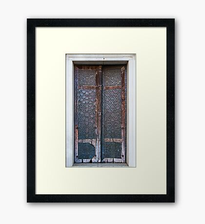 Copper Door  Framed Print