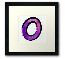 Watercolor - O - purple Framed Print