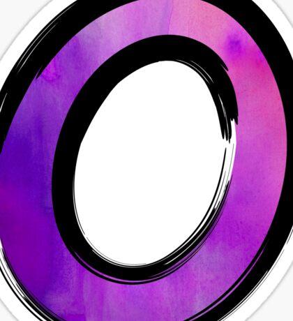 Watercolor - O - purple Sticker