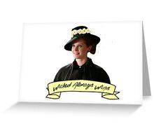 Zelena - Wicked Always Wins Greeting Card