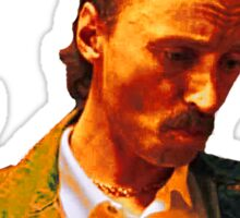 Begbie throws Glass of Beer - Scene from Trainspotting T-Shirt Sticker